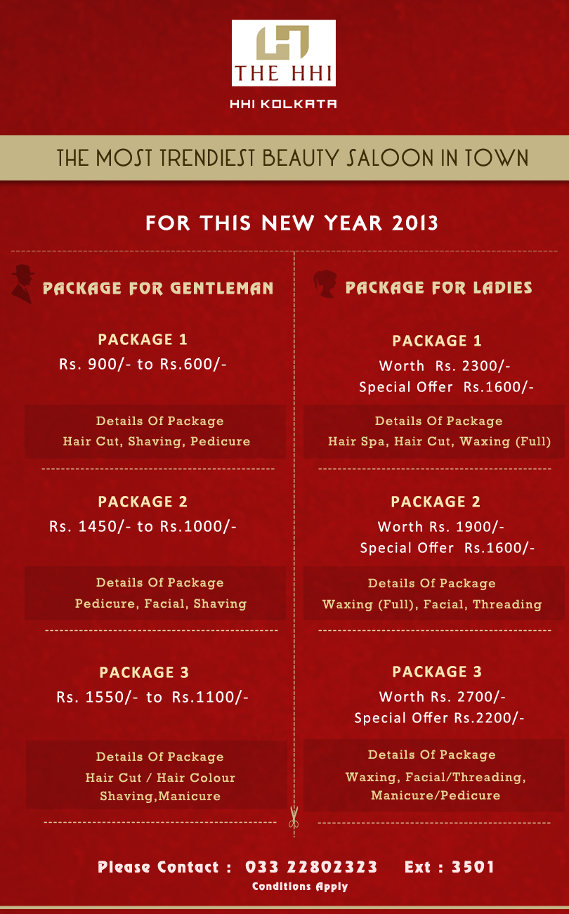 Hairdressers Offers : HHI Hotels >> special offers >> Salon offer